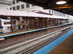 The Quincy Station is along the Brown Line in Chicago, serving the outer loop.