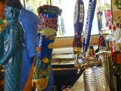 A photo of a draft tap for Reef Donkey, from a street vendor.  Taken at Disney Springs in Disney World Resorts, Orlando.  Reef Donkey is brewed by the Tampa Bay Brewing company.