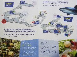 Photo of the site map of Ripley's Aquarium of Canada.  Located it Toronto Ontario, just below the CN Tower.