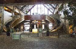 View of the lobby, at River Rock Casino Resorts in Richmond, near Vancouver British Columbia