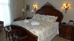 This is the king size bed in room 136 at the Inn at Christie's Mill in Port Severn Ontario.