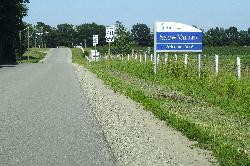 Snow Valley is a community located in Springwater Township Ontario Canada.  The is the welcome sign while travelling east along Seadon Road.