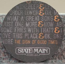 State & Main beer coaster - Back - 2017