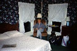 The inside of an upper level guest room at Thayers Inn in New Hampshire.  Scanned from a negative.