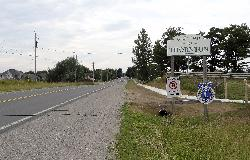 Thornton Ontario Welcome Sign along highway 27 north approaching the village(hamlet).