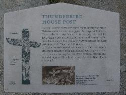 Thunderbird House Post Information Sign - Totem Pole
