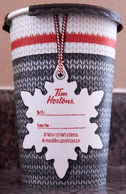 Tim Hortons Christmas 2017 Coffee Cup  - Back