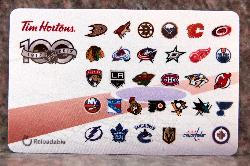 Tim Horton's Gift Card - NHL 100 Centennial -  2017