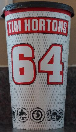 Tim Hortons Coffee Cup NHL 100 Anniv. - Large - Back