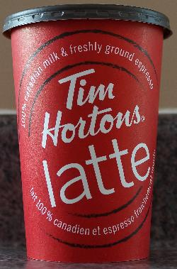 Tim Hortons Standard Medium Coffee Cup 2017 - Front