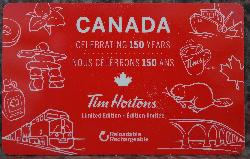 Tim Hortons Gift Card - Canada 150 Edition - 2017
