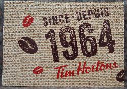 A 2017 version of the Tim Hortons Gift Card envelope.  Shows the year that Tim Hortons was established, 1964.