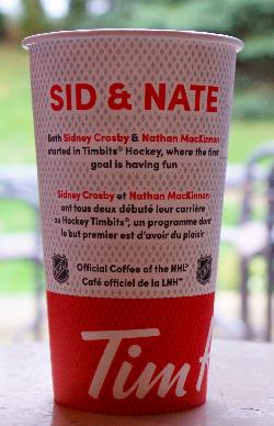 Tim Hortons Coffee - Sid and Nate Cup - 2018 - Back