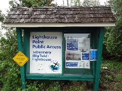 Big Tub Lighthouse Sign and History