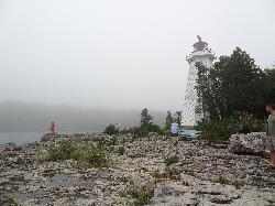 Lighthouse point at the Big Tub Lighthouse in Tobermory.  Built in 1885 by the Departmnet of Marine.