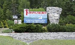 Tobermory Welcome Sign along Highway 6