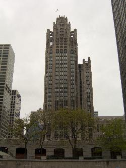 Photo of the Tribune Tower in Chicago.