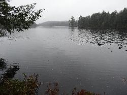 View of Watson lake in October 2013.  Located off of a service road in the south end of Algonquin Park.