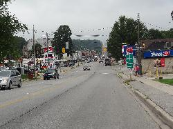 View of downtown Wairton along Frank Street.