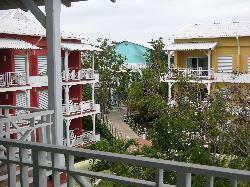 A view from the apartment balcony  into the gardens at Sandals Royal Hicacos in Varadero Cuba.