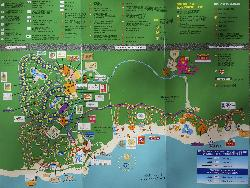 Site map of Bahia Principe Coba, Bahia Principe Akumal and Bahia Principe Tulum.  Taken from the flyer supplied to the visitors. Located along the Mayan Riviera in Mexico.