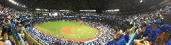 View of the Rogers Centre stadium , during a 2016 ALCS game against the Cleveland Indians.