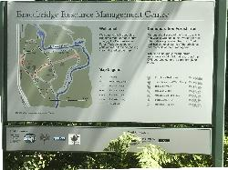 Photo of 2017 site map for the Resource Demostration Trail of Bracebridge Resource Management Centre. Located along Highway 11, north of Bracebridge Ontario.