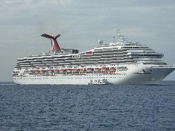 Carnival Freedom anchored a Cayman Islands
