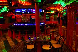 A view into Scott's Piano Bar, aboard the Carnival Freedom Cruise Ship.  Located on the Promenade Deck on level 5.
