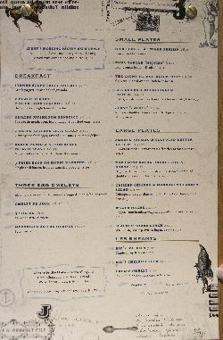 The lunch menu at Cluny Bistro & Boulangerie, taken the 5th of March 2016.