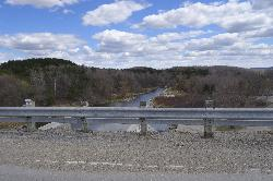 View of the Conestoga River from the Conestoga dam.