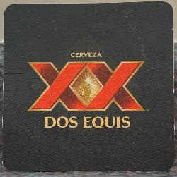 The Dos Equis beer coaster used in Canadian Bars during the year 2017.  Both the back and the front are the same.