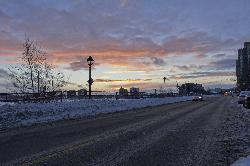 Dunlop Street Barrie - Colorful Winter Sunset