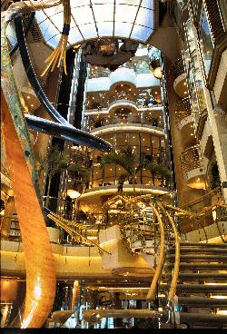 Explorer of the Seas - staircase and elevators