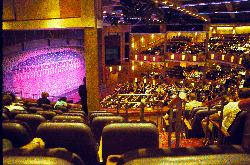 The large capacity theatre on the Royal Caribbean Explorer of the Seas cruise ship.