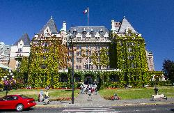 Fairmont Empress Hotel view from Government Street
