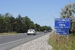King Township Population Sign along Highway 27 northbound.