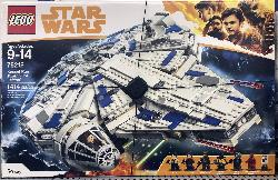 A photo of the Lego Star Wars 'Kessel Run' Millennium Falcon.  There 1414 pieces in the box.  The price in Walmart was $199 CAD.