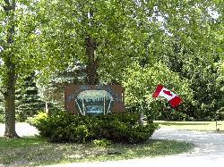 New Lowell Campground - entrance sign