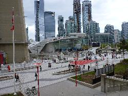 Photo showing the building and entrance of the Ripley's Aquarium of Canada site in Toronto, Canada.