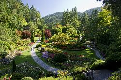 The Sunken Gardens at Butchart Gardens British Columbia