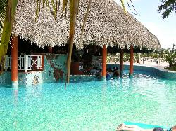 Swim up pool bar in main pool at Sandals Royal Hicacos in Varadero Cuba.