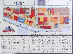 Photo of map on wall in the Toronto Distillery District.  Home of many shops and restaurants.  If you request full size photo, all businesses will be seen.