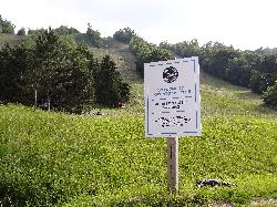 This welcome sign is located at the base of the hill next to the club house of the Toronto Ski Club.